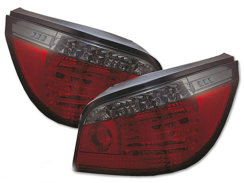 BMW E60 LCI Look LED Rear Lamps Set - Red & Smoked