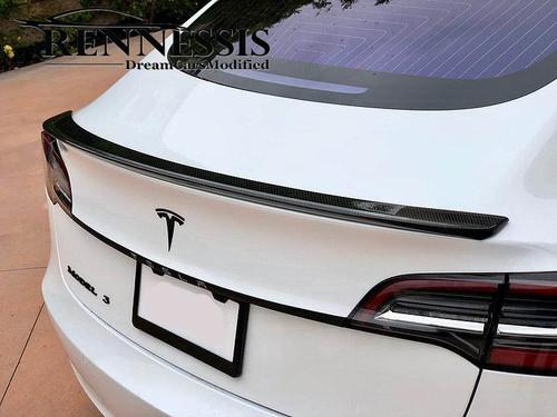TESLA Model 3 Genuine Dry Carbon Fibre Boot Lip Spoiler V1