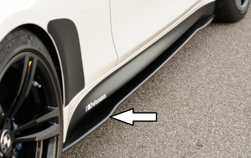 RIEGER BMW F82 F83 M4 Carbon Fibre Side Skirt Extensions