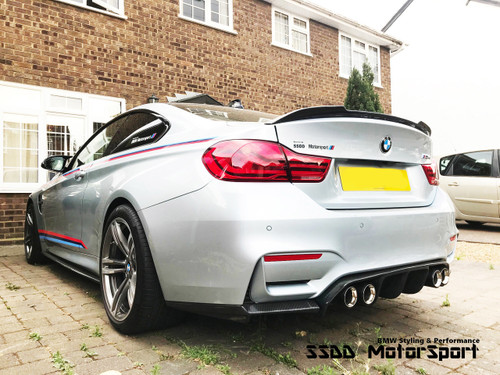 M4 CS Style Carbon Fibre Boot Lip Spoiler for F82 M4 E9X F3X F10 G30