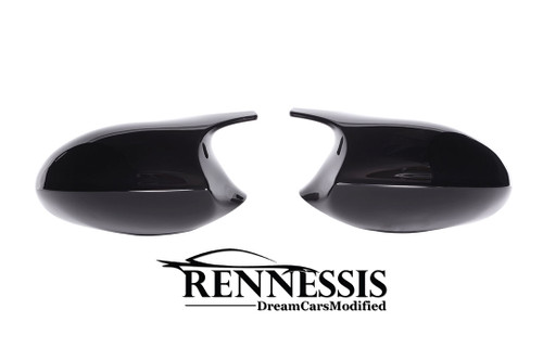 E92 E93 M3 Look Gloss Black Mirror Covers - ABS Plastic