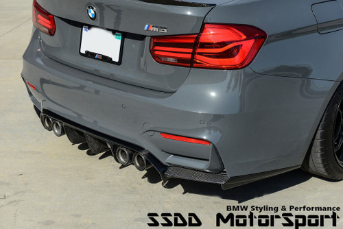 RENNESSIS V Racing 3 Piece Carbon Fibre Rear Diffuser for BMW F80 M3 F82 F83 M4
