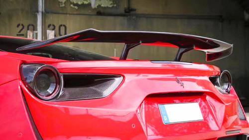 Ferrari 488 Genuine Pre-Preg Carbon Fibre Rear Lamp Covers