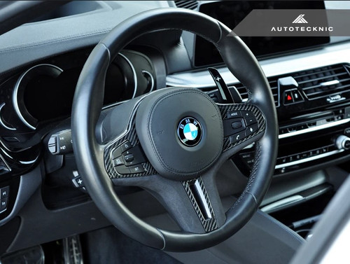 AUTOTECKNIC BMW F90 M5 Carbon Alcantara Steering Wheel Trim (ATK-BM-0282-NH-S)