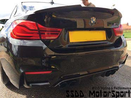 F82 M4 M Performance Style Boot Lip Spoiler - V2