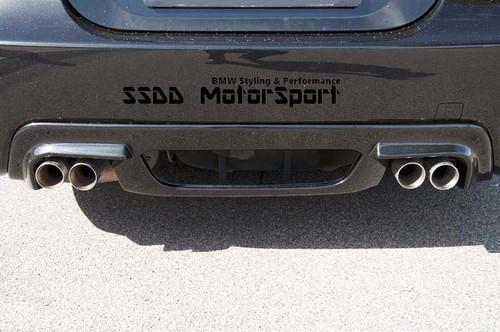 RIEGER BMW E60 E61 MSPORT QUAD REAR BUMPER DIFFUSER