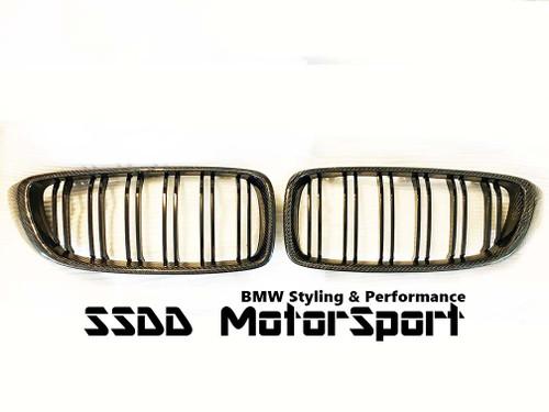 Carbon Fibre kidney grilles for BMW F32 F33 F80 M3 F82 F83 M4