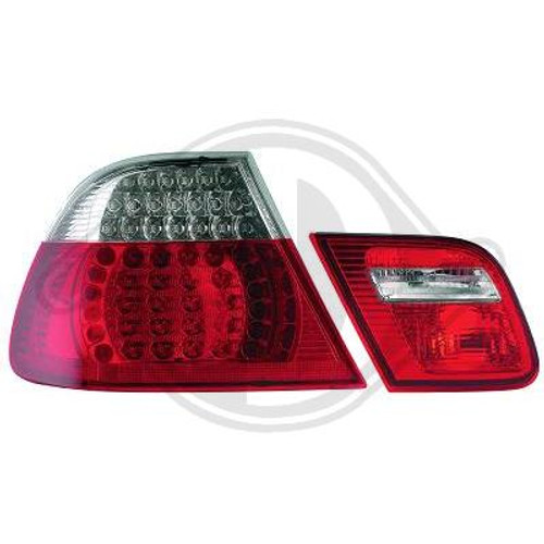 E46 Facelift 03-06 Coupe LED Rear Lights Clear and Red