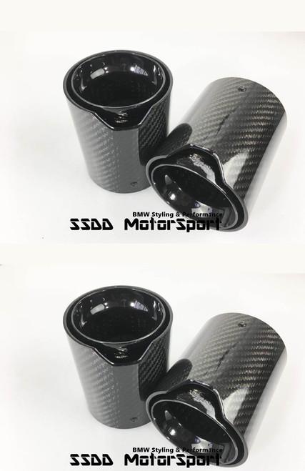 BMW F90 M5 Carbon Fibre Gloss Black Exhaust Tips