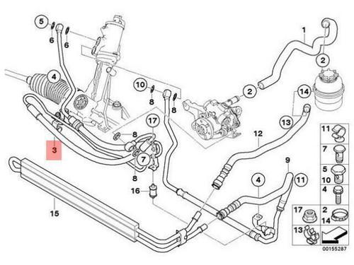 Genuine BMW E82 E90 E92 135i 335i Power Steering Expansion Hose