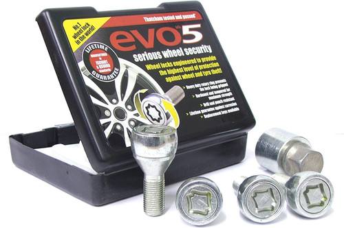 Wheel Lock Set M14 x 1.25 40mm 60 degree seat and 17mm Hex