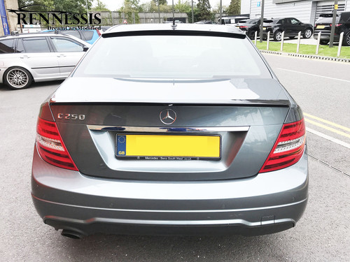 Painted Mercedes-Benz W204 AMG Style Rear Window Roof Spoiler