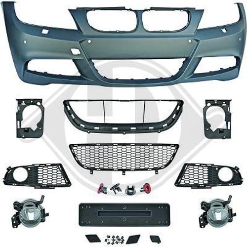 BMW E90 E91 LCI MSport Look Bumper Kit - Incuding meshes & fog lamps
