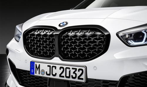 GENUINE BMW F40 M Performance Diamond Pattern Shadowline Grilles 51135A39370