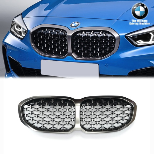 GENUINE BMW F40 M Performance Titanium Grey Grilles M135i