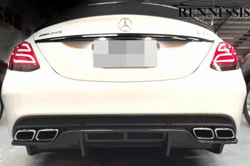 Mercedes Benz W205 C63 C63S AMG GTX Carbon Fiber Rear Diffuser