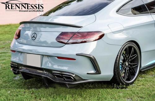 Mercedes Benz C205 C63 C63S AMG GTX Carbon Fiber Rear Diffuser