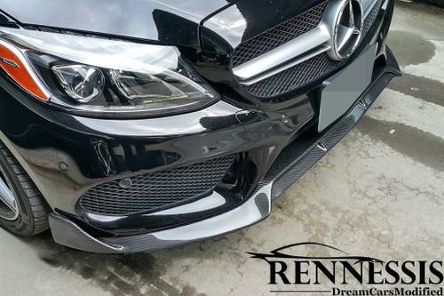 Mercedes Benz W205 C300 C450 AMG C43 Carbon Fiber Front Splitter V1