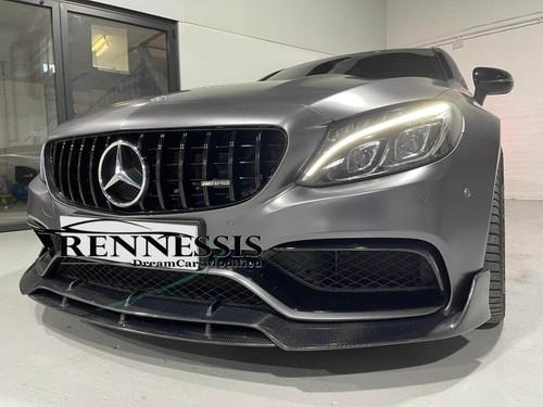 Mercedes Benz W205 C63 C63S AMG Carbon Fiber Front Splitter
