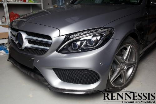 Mercedes Benz W205 C300 C450 AMG C43 Carbon Fiber Front Splitter V2