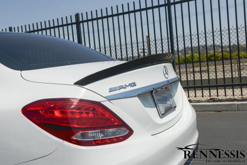 Mercedes W205 C Class V2 Carbon Fiber Boot Spoiler
