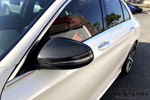 Mercedes Benz W205 C Class Carbon Fiber Mirror Covers