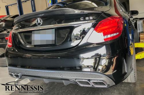 Mercedes W205 C Class GTX Carbon Fiber Boot Spoiler V2