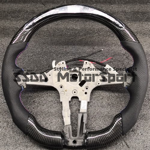 BMW FX 1 2 3 4 Series Flat Bottom Carbon Race Display Steering Wheel