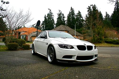 BMW E90 E92 E93 M3 3D Style Carbon Fibre Front Splitter