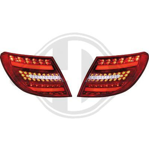 W204 C Class Saloon 07-11 Facelift Style Retrofit LED Rear Lights