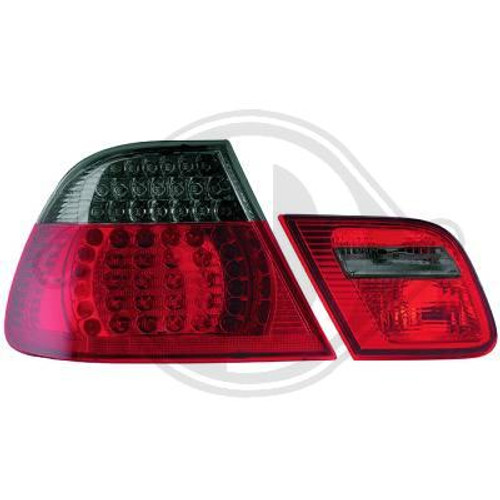 E46 Facelift 03-06 Coupe LED Rear Lights Smoked and Red