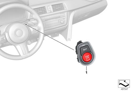 Genuine BMW F20 F22 F30 F32 M2 M3 M4 Red Start/Stop Switch