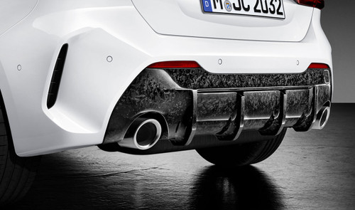 Genuine BMW F40 M135ix M Performance Forged Carbon Rear Diffuser