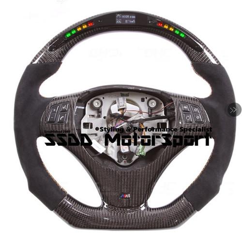 E90 E92 M SPORT Flat Bottom Carbon LCD Race Display Steering Wheel Manual Transmission