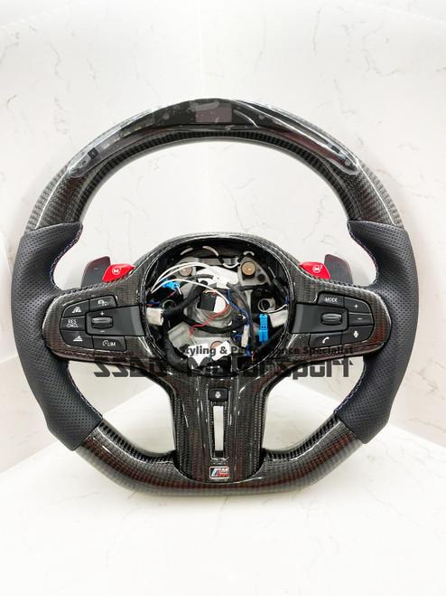 BMW G30 F90 M5 G11 Flat Bottom Carbon LCD Race Display Steering Wheel