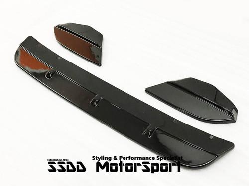 BMW F97 X3M F98 X4M Gloss Black 3 Pieces Front Splitter Set