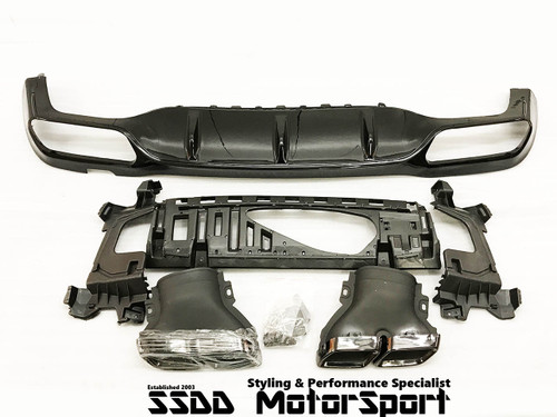 Mercedes Benz W213 E63 AMG Style Diffuser Kit with Quad Exhaust Tips