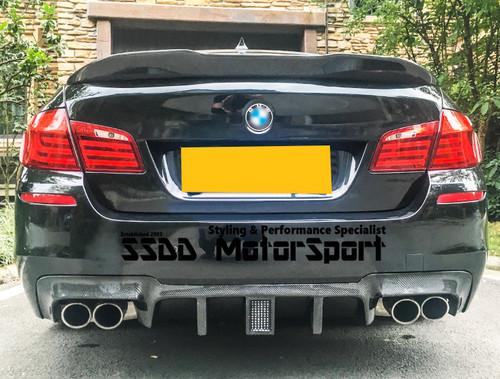 BMW F10 F11 M5 MSPORT LED Carbon Fibre Rear Diffuser