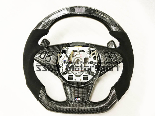 BMW E60 M5 Flat Bottom Carbon LCD Race Display Steering Wheel