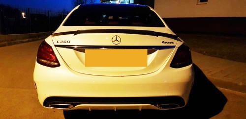 Mercedes Benz W205 Coupe Carbon Fibre Aero Boot Lip Spoiler