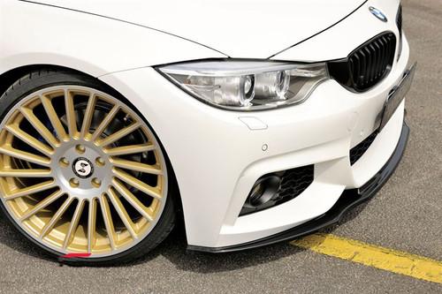 RIEGER Matt Black Front Splitter for BMW F32 F33 F36 4 Series Msport
