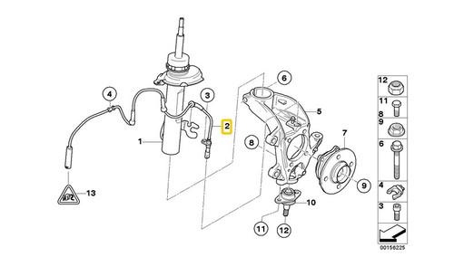 Genuine MINI R50 R53 R52 ABS Wheel Speed Sensor