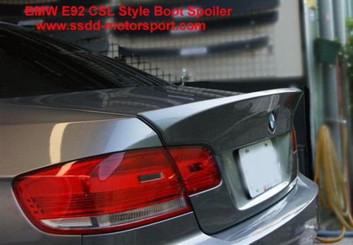 Painted BMW E92 & E92 M3 Coupe CSL Look Boot Lip Spoiler