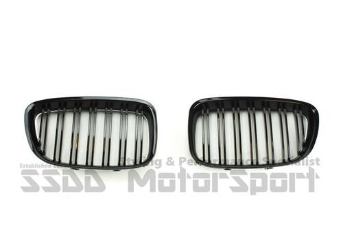 BMW F07 5 Series GT Gloss Black Double Slats Kidney Grilles