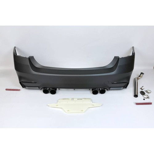 M3 Look Rear Bumper with Quad Exhaust Tips for BMW F30 3 series