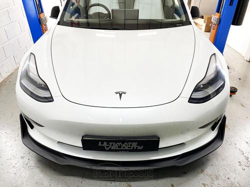 TESLA Model 3 Matte Carbon Fibre GT Front Lip Splitter