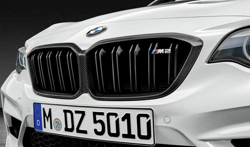Genuine BMW F87 M2 Competition M Performance Carbon Front Grilles