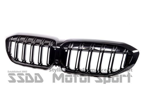 BMW G20 G21 Performance Double Slats Black Kidney Grilles