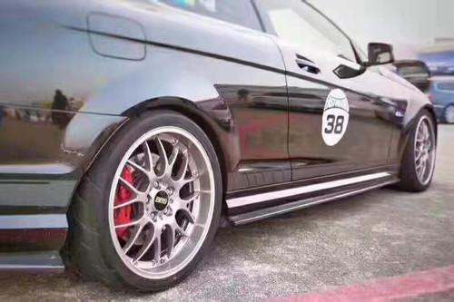 Mercedes Benz W204 AMG C63 Carbon Fibre Side Skirt Extensions