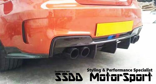 BMW E82 1M Coupe EVO Carbon Rear Bumper Diffuser